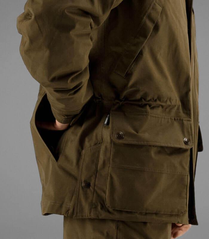 retrieve chaqueta de caza con bolsillos moral