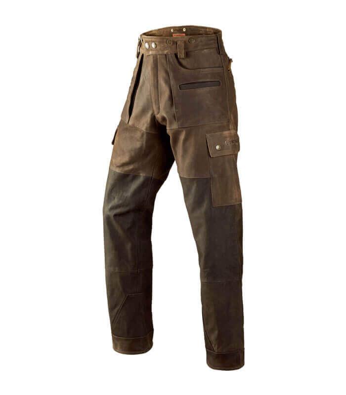 pantalones de piel para cazar