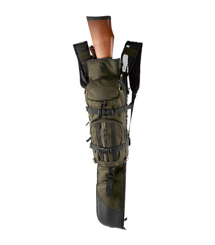 mochila de caza porta rifle