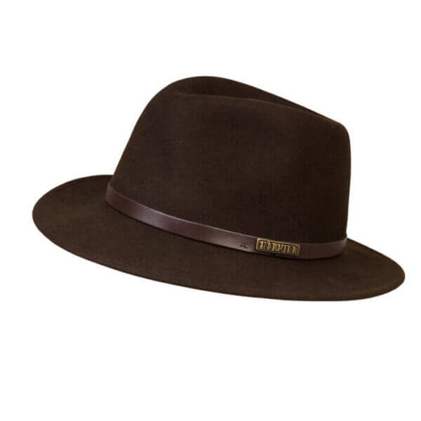 sombrero de fieltro marron