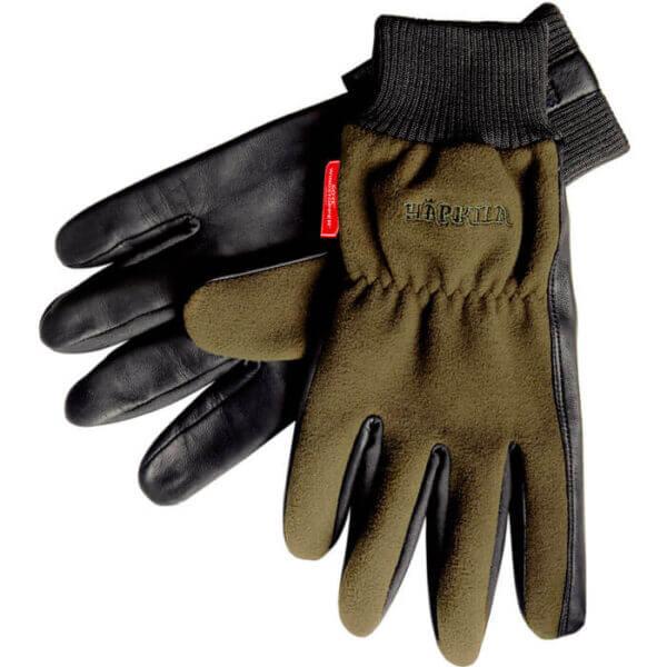 guantes de caza de piel y cortaviento