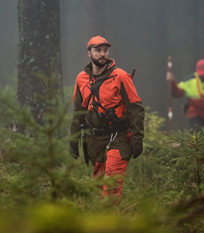 chaqueta de caza naranja alta visibilidad