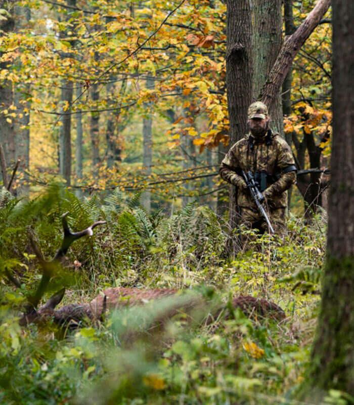 chaqueta de caza camuflaje