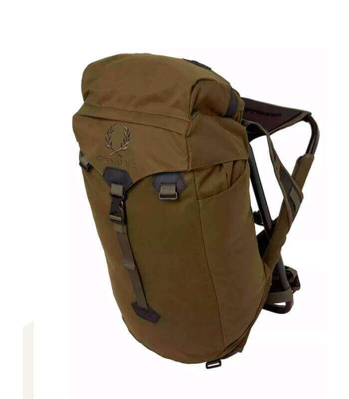 mochila de caza con silla de puesto plegable
