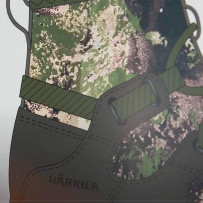 botas de caza harkila diseño prototipo
