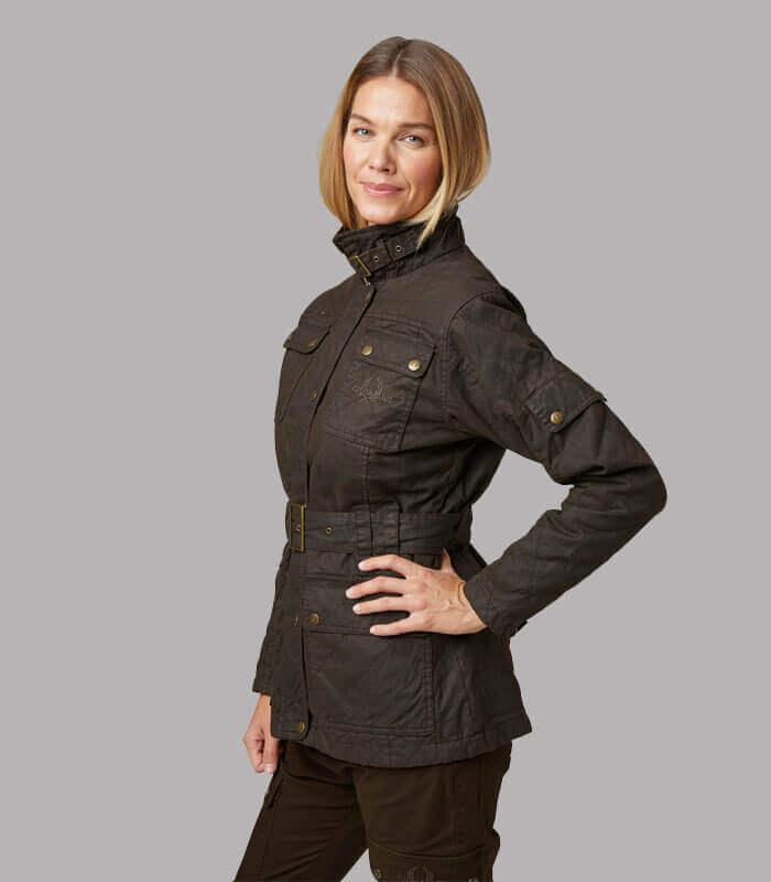 chaqueta algodon mujer tipo belstaff