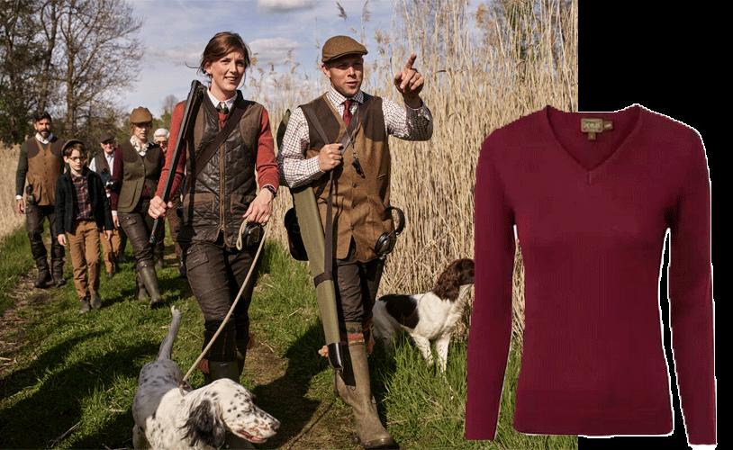 jersey lana de campo para la mujer
