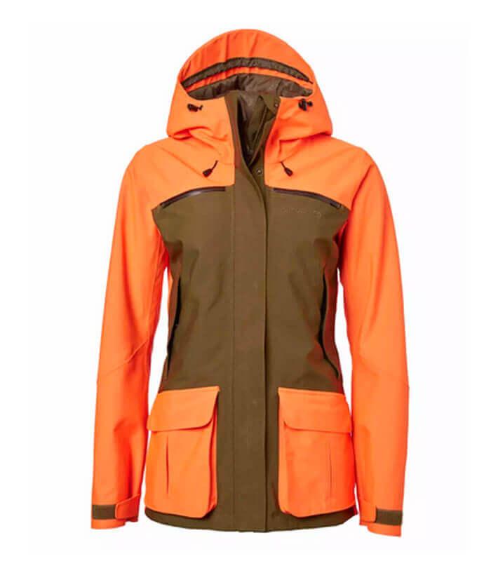 chaqueta caza mujer naranja alta visibilidad