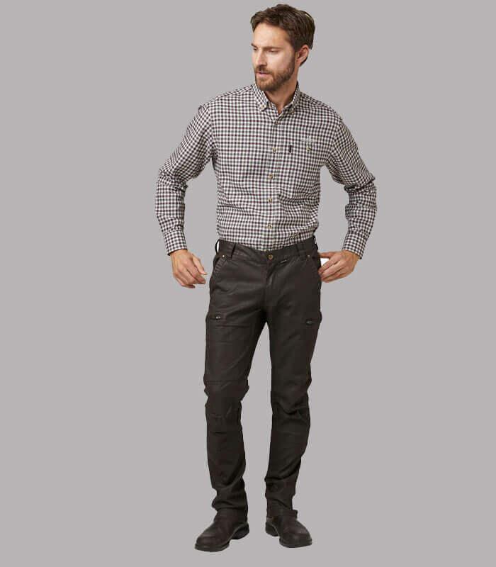 pantalones de algodon caza hombre