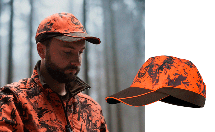 gorra caza naranja seguridad alta visibilidad