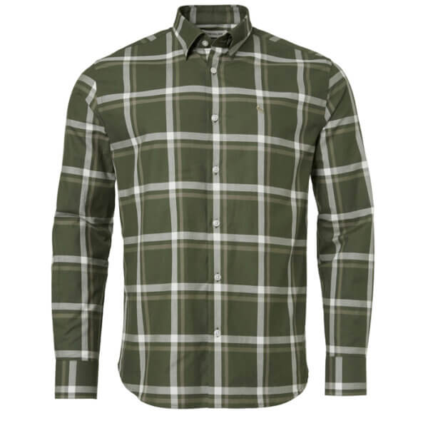 camisa de cuadro de hombre