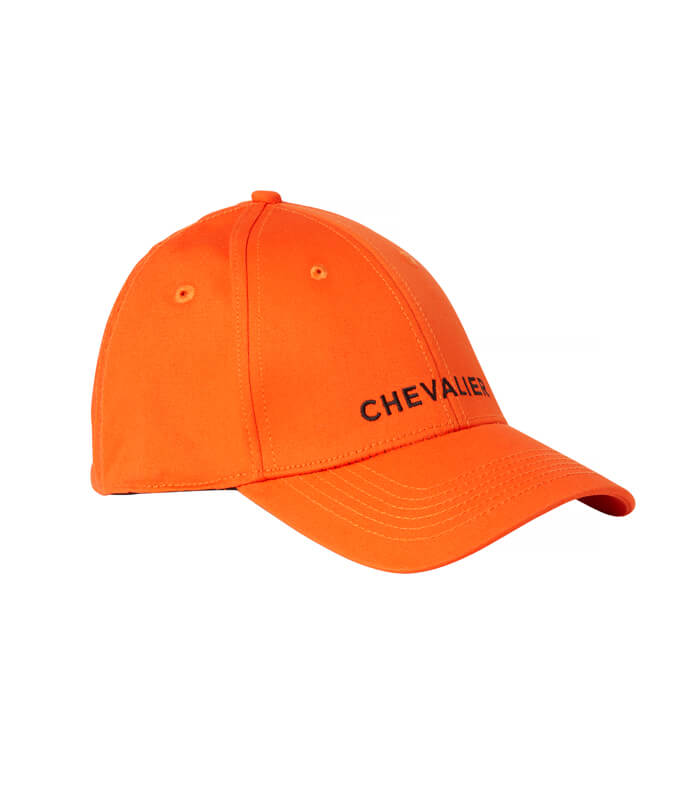 gorra naranja de seguridad de caza
