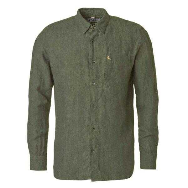camisa de lino de hombre