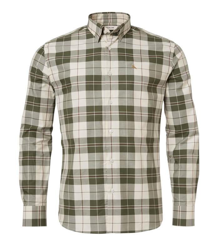 camisa de caudros de hombre de caza y de campo