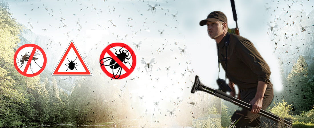 ropa de caza anti mosquito y anti garrapatas
