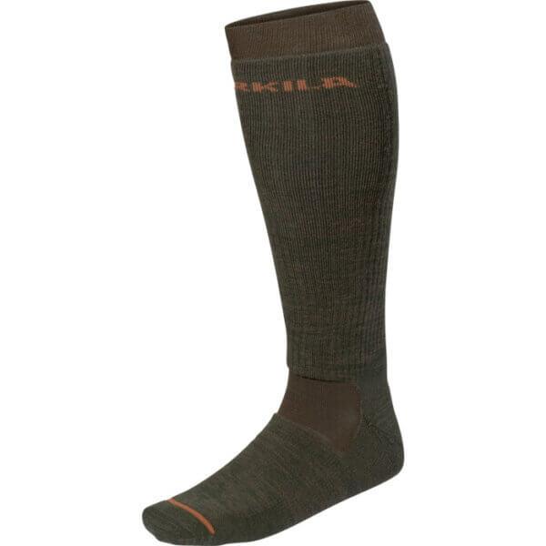 calcetines largos de caza de lana
