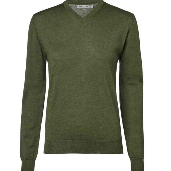 jersey de punto de color verde de mujer