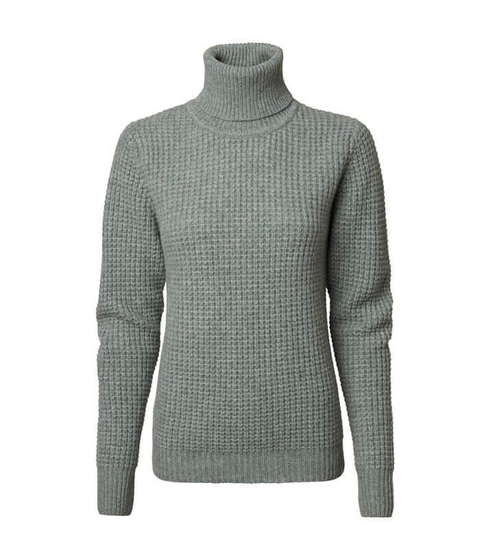 jersey de mujer lana cuello alto punto grueso y caliente para el invierno