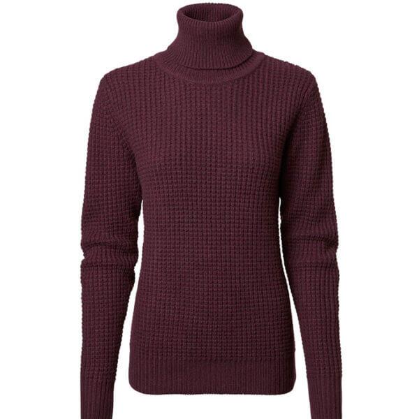 jersey de punto grueso de mujer de lana de cordero