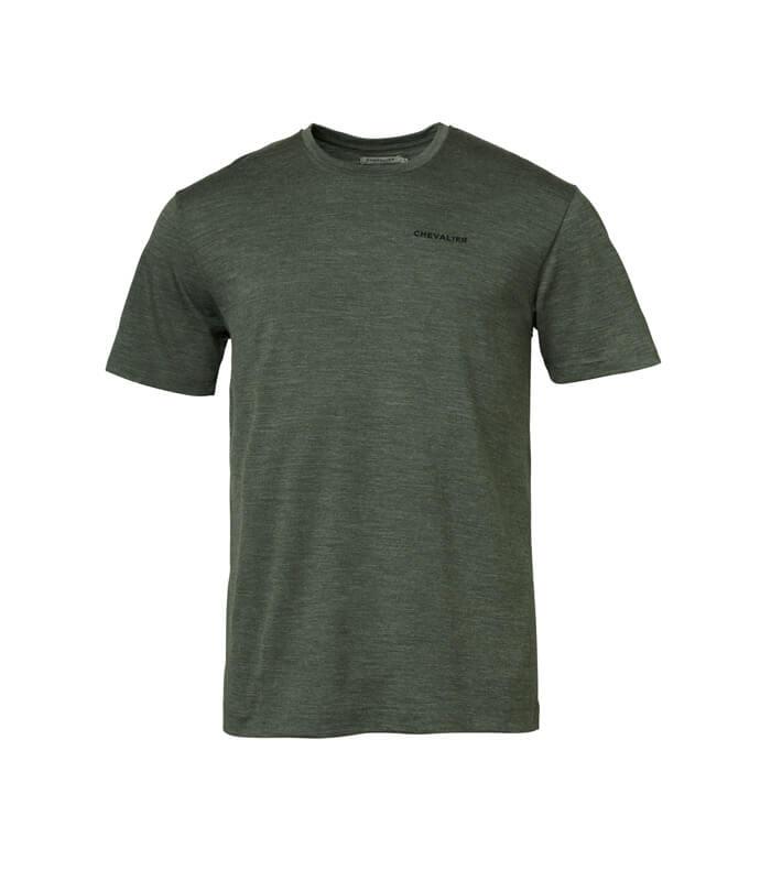 camiseta de manga corta de lana y algodon de hombre