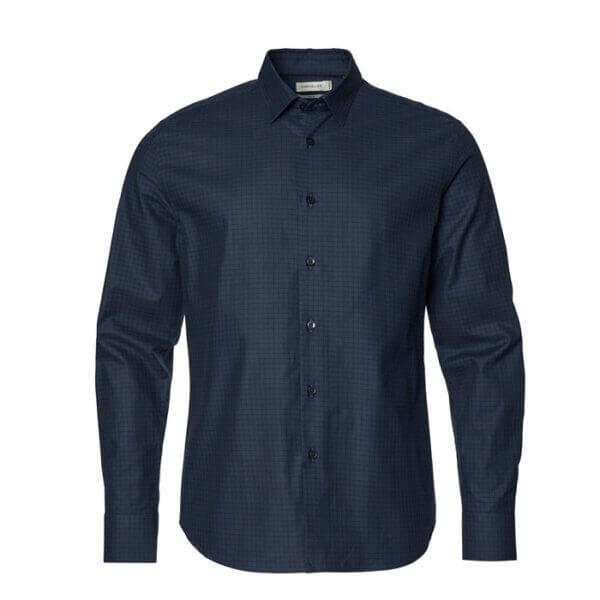 camisa de hombre azul