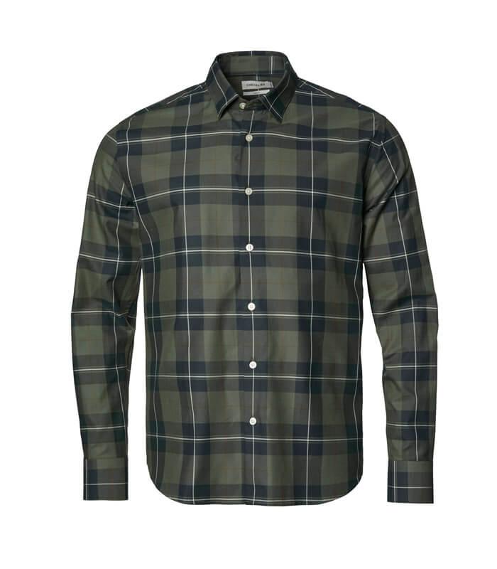 camisa de cuadros moda campera hombre