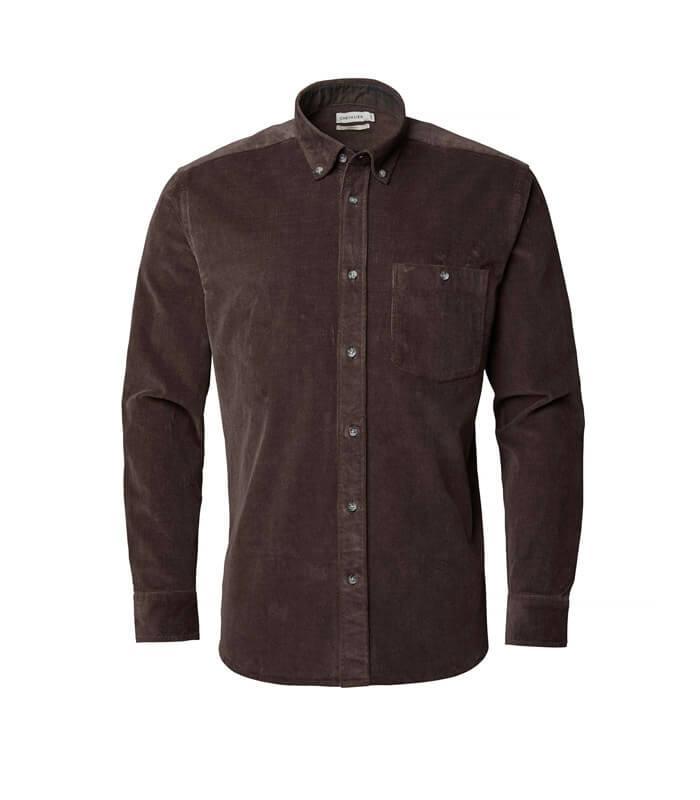 camisa de pana marron de hombre