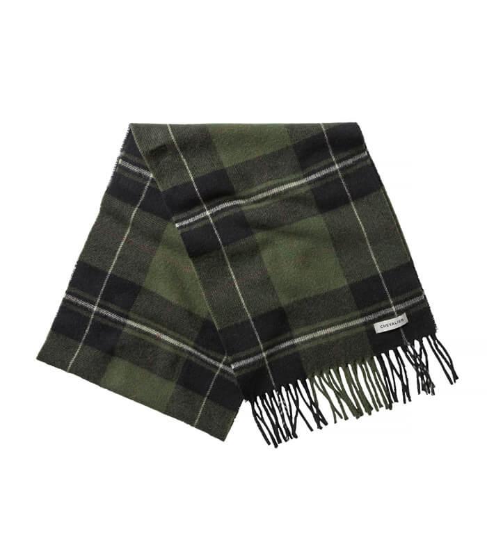 bufanda de lana cuadro escoces