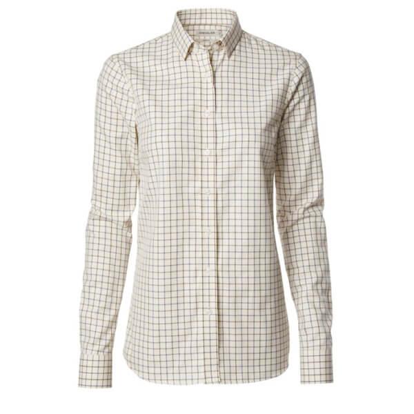 camisa de campo de cuadros para la mujer