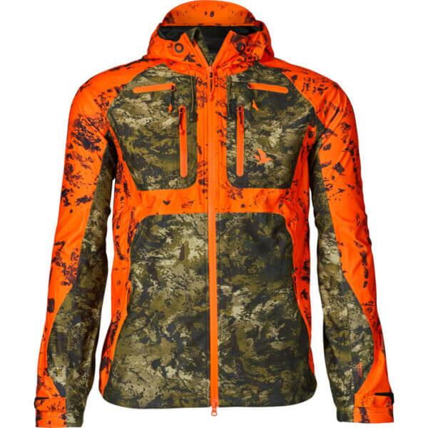 chaqueta caza seeland alta visibilidad naranja impermeable