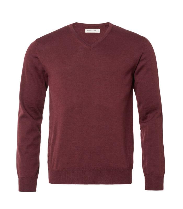 jersey de punto fino de lana merino de hombre