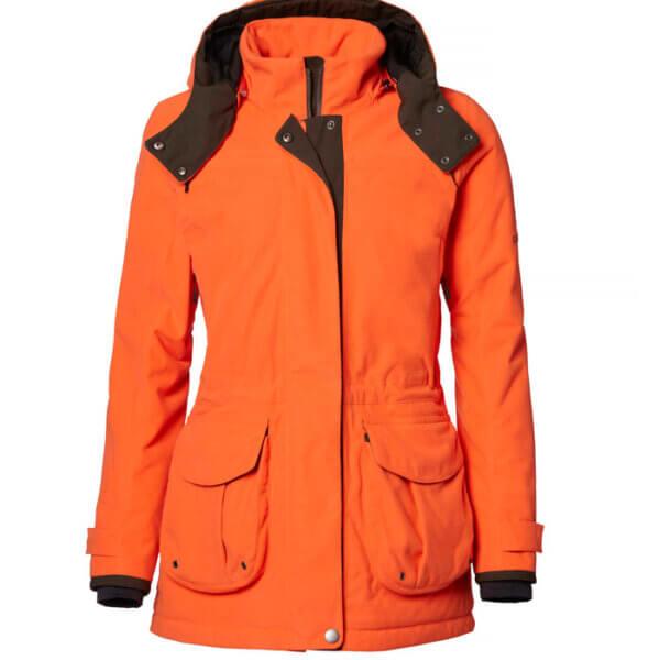 chaqueta de caza impermables y naranja de alta visibilidad