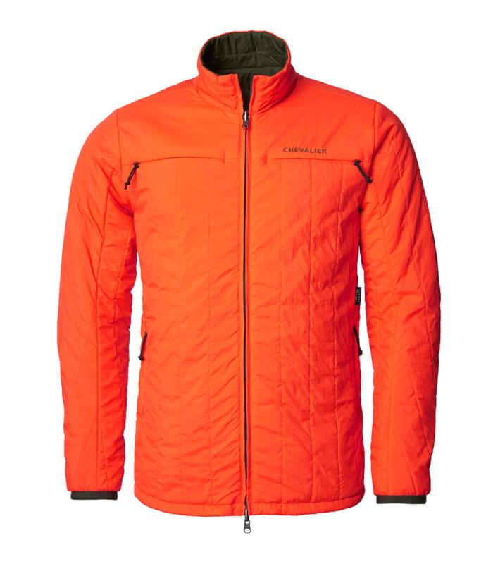 plumifero reversible de caza verde naranja de seguridad