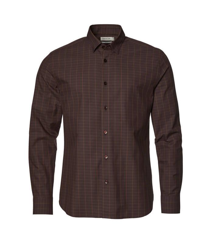 camisa de hombre marron