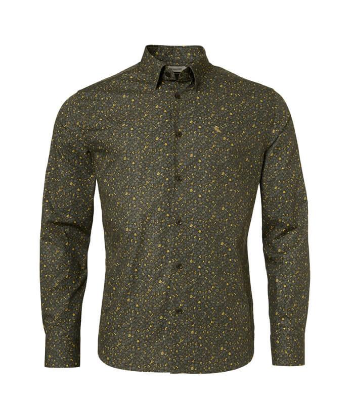 camisa de hombre verde