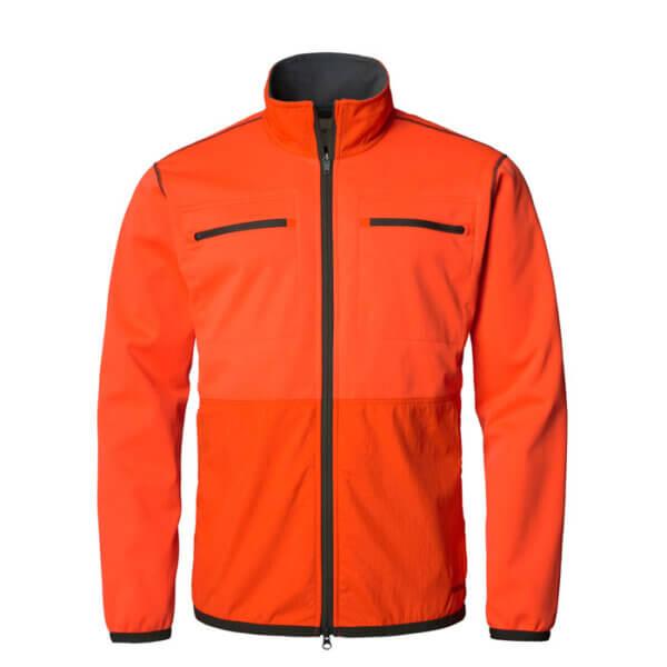 chaqueta cortaviento naranja de alta visibilidad turopadecaza