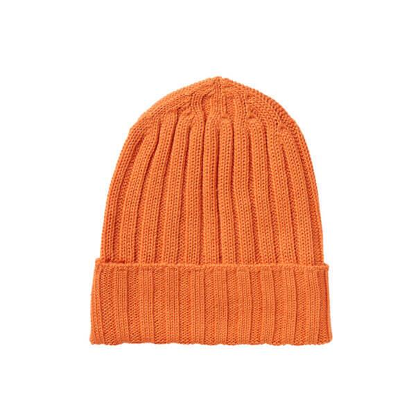gorro caliente de lana de color naranja de seguridad alta visibilidad