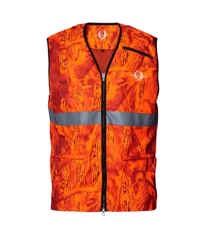 chaleco de caza naranja seguridad alta visibilidad