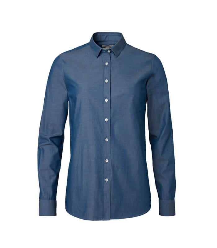 camisa de algodón elástico para mujer