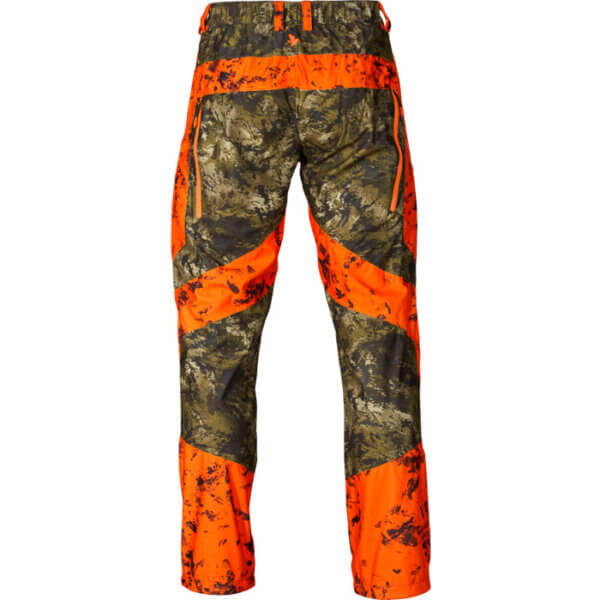 pantalones caza seeland impermeables alta visibilidad camu y naranja
