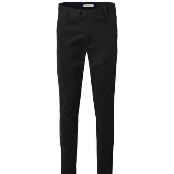 pantalones algodon negro hombre