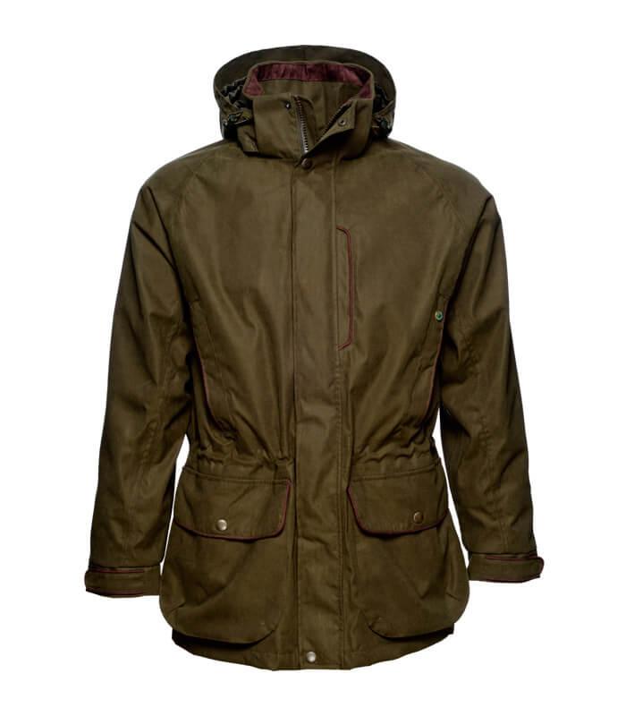chaqueta caza impermeable becada tejido resistente